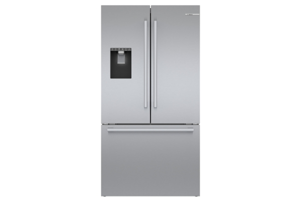"Large image of Bosch 36"" Stainless Steel Standard-Depth 3-Door Refrigerator - B36FD50SNS"