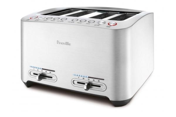 Large image of Breville Die-Cast Silver 4-Slice Smart Toaster - BTA840XL