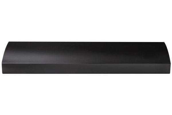 "Large image of Broan BXT1 Series 30"" Black 4-Way Convertible Under-Cabinet Range Hood - BXT130BL"