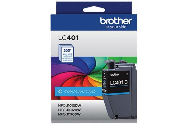 Large image of Brother Standard-Yield Cyan Ink Cartridge - LC401CS