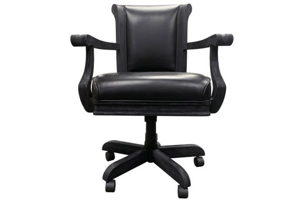 Large image of Brunswick Centennial Black Wire BrushGame Table Chair (Set Of 2) - 26154031300