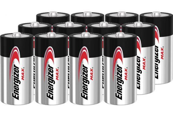 Large image of Energizer MAX C Alkaline Battery (12 Pack) - C12PACK-E