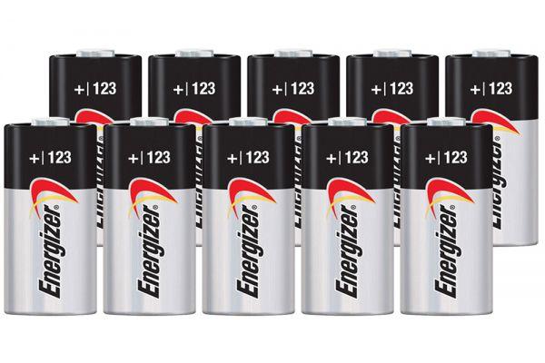 Large image of Energizer EL-123 3V Photo Lithium Battery (10 Pack) - CR123A-10PACK-E