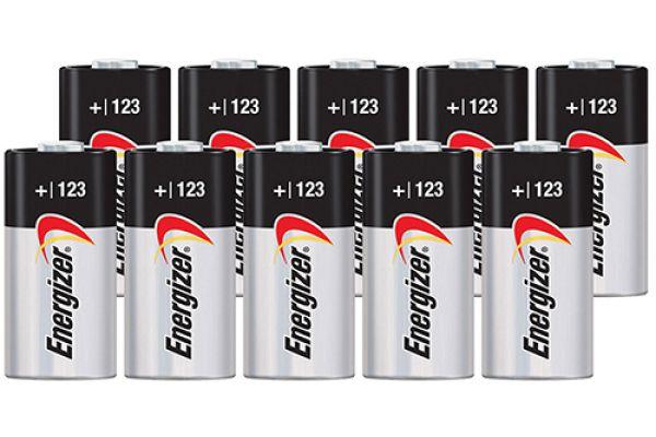 Energizer EL-123 3V Photo Lithium Battery (10 Pack) - CR123A-10PACK-E