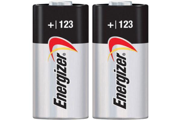 Large image of Energizer EL-123 3V Photo Lithium Battery (2 Pack) - CR123A-2PACK-E