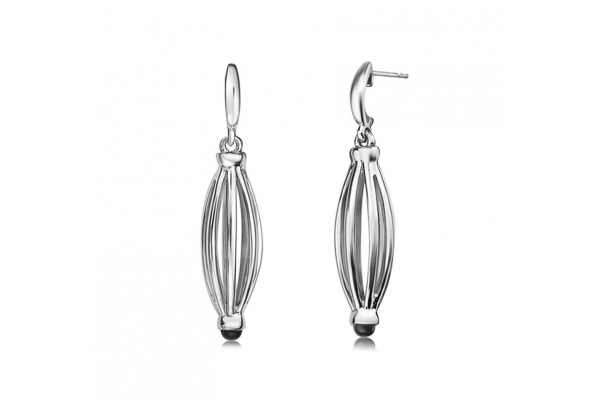Large image of Charles Krypell Birdcage Sterling Silver Drop Earrings - 1665S25