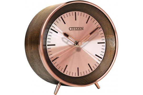 Large image of Citizen Chestnut Brown Desk Clock - CC3004