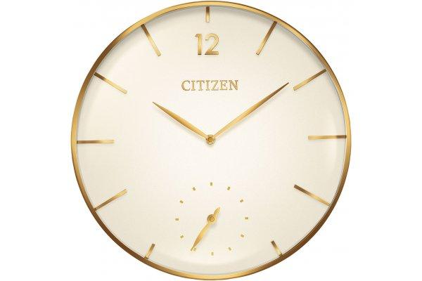 Large image of Citizen Oversized Gold-Tone Wall Clock - CC2034