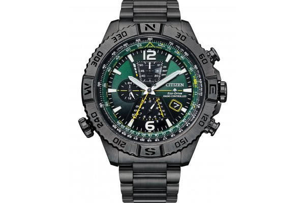 Large image of Citizen Promaster Navihawk A-T Grey Stainless Steel Watch, 48mm - AT822756X