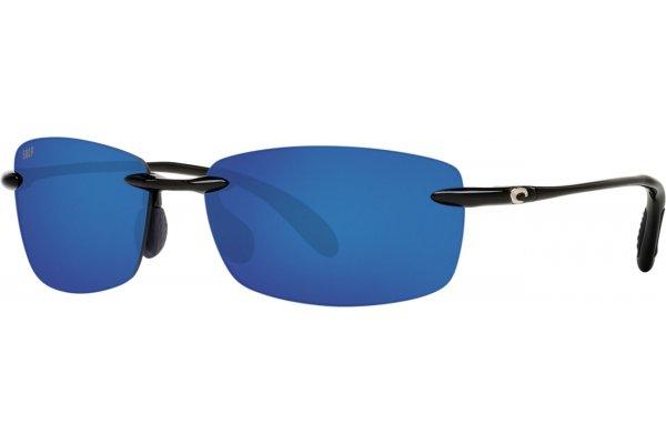 Large image of Costa Del Mar Ballast Blue Mirror Polarized Sunglasses, Shiny Black Frames, 57mm - 06S90710560