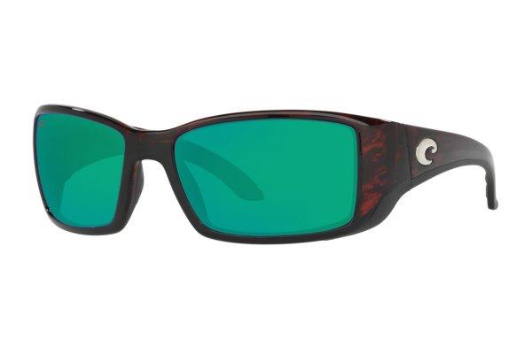 Large image of Costa Del Mar Blackfin Green Mirror Polarized Sunglasses, Tortoise Frames, 62mm - 06S90141862