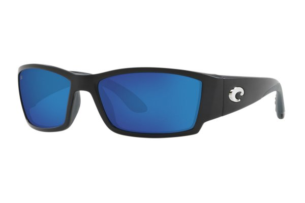 Large image of Costa Del Mar Corbina Blue Mirror Polarized Sunglasses, Matte Black Frames, 62mm - 06S90571662