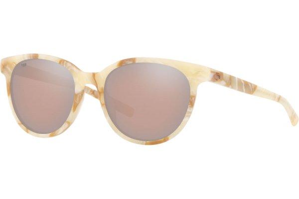Large image of Costa Del Mar Isla Polarized Copper Silver Mirror Sunglasses, Shiny Seashell Frames, 53mm - 06S20081153