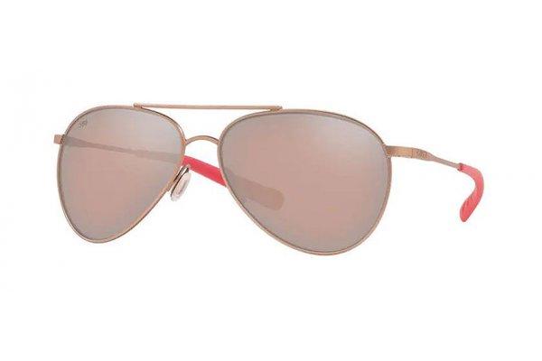 Large image of Costa Del Mar Piper Copper Silver Mirror Polarized Sunglasses, Satin Rose Gold Frames, 58mm - 06S60031458