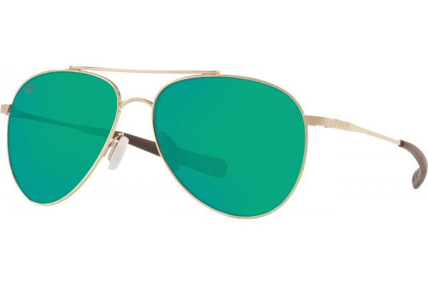 Large image of Costa Del Mar Cook Polarized Green Mirror Sunglasses, Shiny Gold Frames, 60mm - 06S60050360