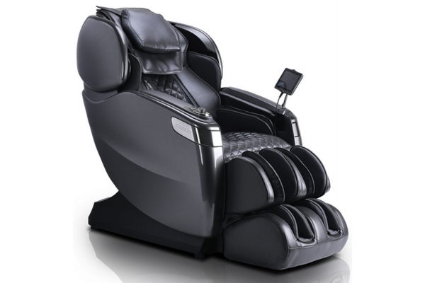 Large image of Cozzia Qi XE Triple Grey Reclining Massage Chair - CZ-715-9090