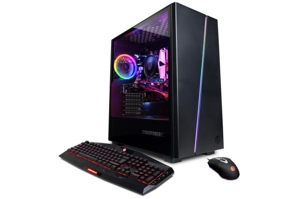 Large image of CyberPowerPC Gamer Master Black Gaming Desktop AMD Ryzen 7 3700X 16GB RAM 500GB SSD + 1TB HDD, NVIDIA GeForce RTX 3060 - GMA8200CPGV4