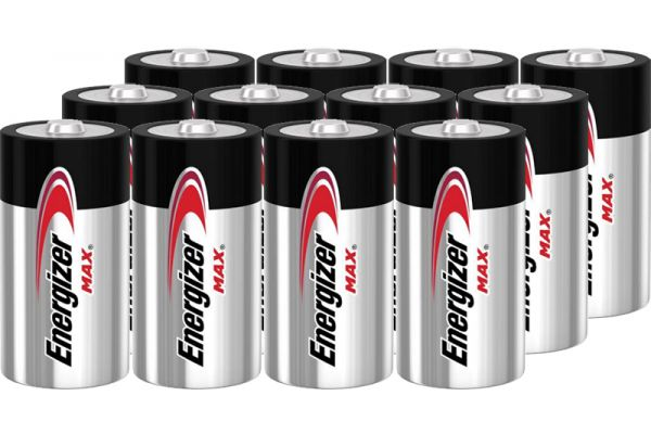 Large image of Energizer MAX D Alkaline Battery (12 Pack) - D12PACK-E