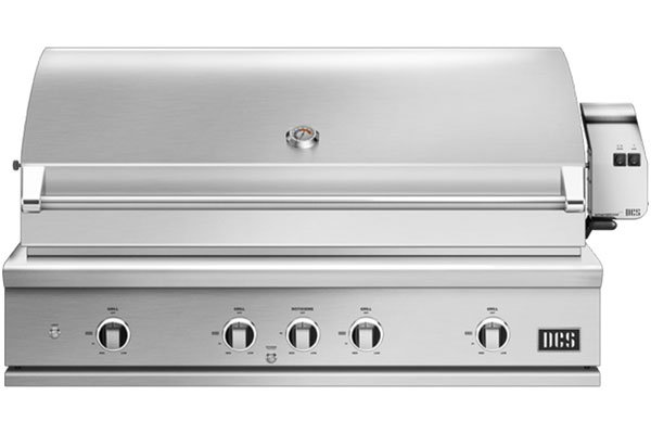 """Large image of DCS 48"""" Built-In Stainless Steel Series 9 Natural Gas Grill With Rotisseries And Charcoal - BE1-48RC-N"""