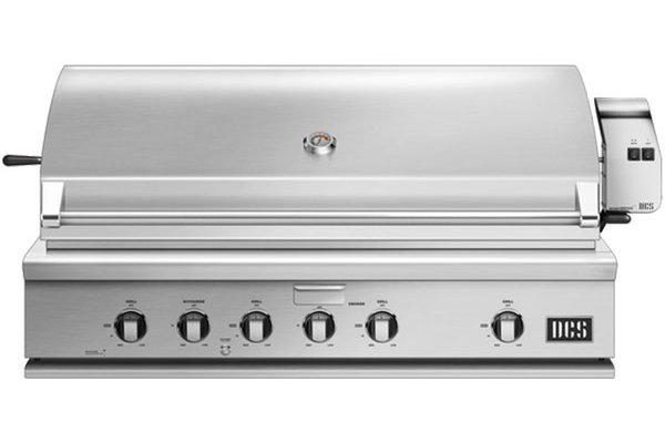 """Large image of DCS 48"""" Stainless Steel Traditional Built-In Natural Gas Grill With Rotisserie - BH1-48R-N"""