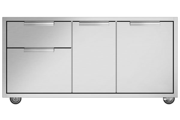 """Large image of DCS Series 9 48"""" CAD Stainless Steel Grill Cart - CAD1-48E"""