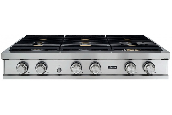 """Large image of Dacor Contemporary 48"""" Stainless Steel Liquid Propane Rangetop - DTT48M876PS"""