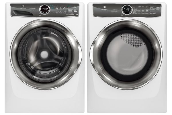 Electrolux Island White Front Load Steam Washer with Gas Steam Dryer Package - ELECLAUNDRY8