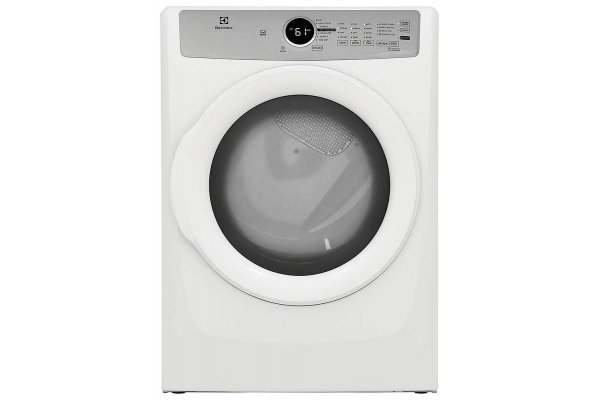 Large image of Electrolux 8 Cu. Ft. White Front Load Electric Dryer - ELFE7337AW