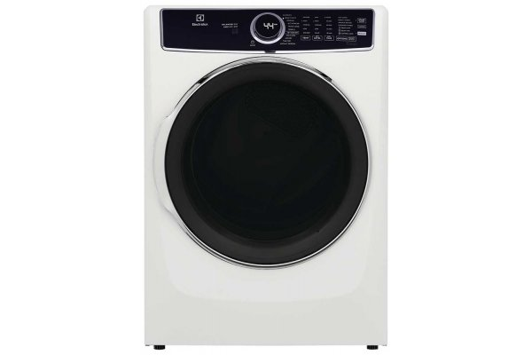 Large image of Electrolux 8 Cu. Ft. White Front Load Perfect Steam Electric Dryer With Balanced Dry And Instant Refresh - ELFE7637AW