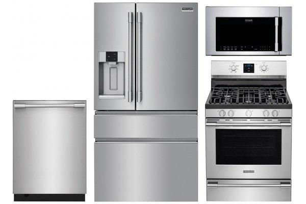 Large image of Frigidaire Professional Counter-Depth Refrigerator & Gas Range - FRIGPACK10