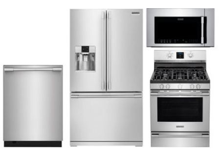 Frigidaire Professional Stainless Steel French Door Refrigerator with Gas Range - FRIGPACK13