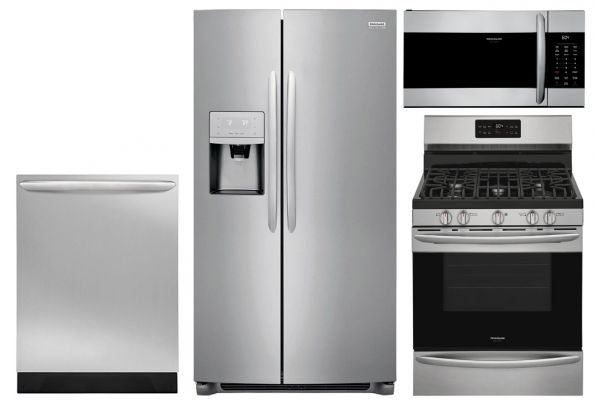 Frigidaire Gallery 22.0 Cu. Ft. Stainless Steel Counter Depth Refrigerator With Gas Range Package - FRIGPACK16