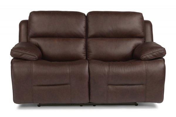 Large image of Flexsteel Apollo Leather Power Reclining Loveseat w/ Power Headrests - 1849-60PH-986-00