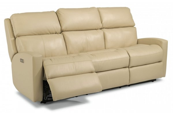 Large image of Flexsteel Catalina Power Reclining Sofa With Power Headrests - S3900-62H-174-02