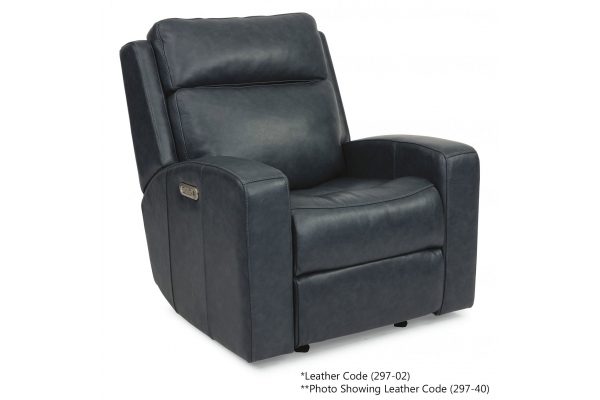 Large image of Flexsteel Cody Leather Power Gliding Recliner With Power Headrest - 1820-54PH-297-02