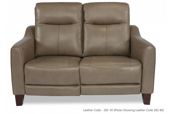 Large image of Flexsteel Forte Leather Power Reclining Loveseat With Power Headrests - 1197-60PH-282-30