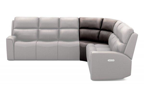 Large image of Flexsteel Jarvis Leather Full Wedge - 1828-23-009-70