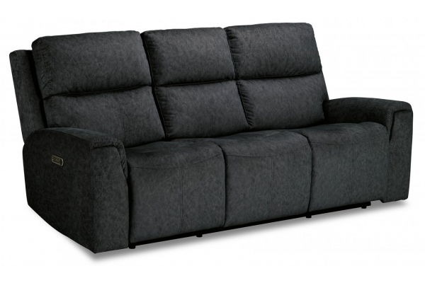 Large image of Flexsteel Jarvis Graphite Fabric Power Reclining Sofa With Power Headrests - 1828-62PH-033-02
