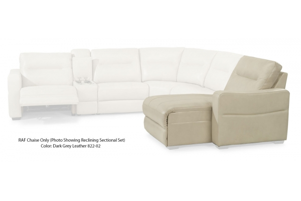 Large image of Flexsteel Monet Leather RAF Power Reclining Chaise - 1891-26P-822-02