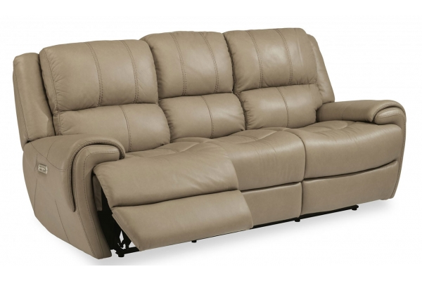 Large image of Flexsteel Nance Leather Power Reclining Sofa With Power Headrest - 1179-62PH-450-82