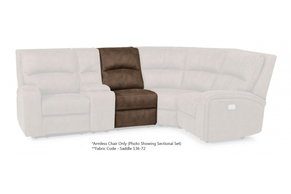 Large image of Flexsteel Nirvana Saddle Fabric Armless Chair - 1650-19-136-72