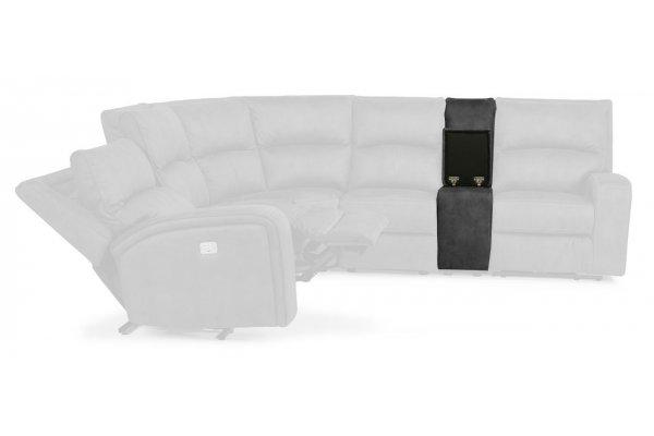 Large image of Flexsteel Nirvana Grey Fabric Straight Console - 1650-72-136-04