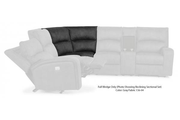 Large image of Flexsteel Nirvana Gray Fabric Full Wedge - 1650-23-136-04
