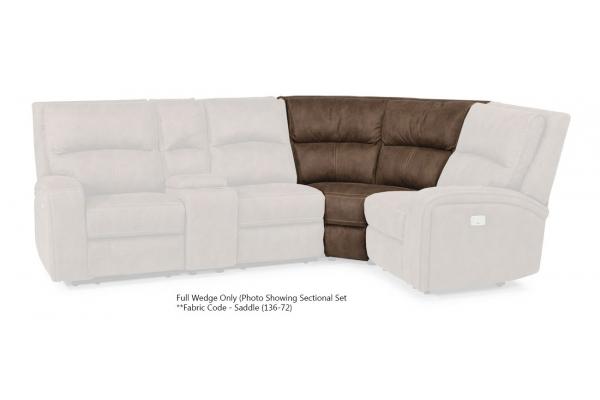 Large image of Flexsteel Nirvana Saddle Fabric Full Wedge - 1650-23-136-72