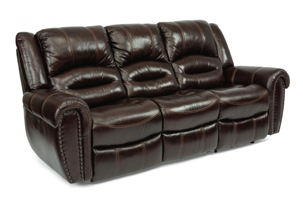 Large image of Flexsteel Town Barolo Leather Reclining Sofa - 1010-62-048-62