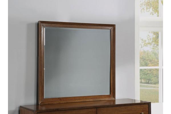Large image of Flexsteel Walnut Ludwig Mirror - W1085-880