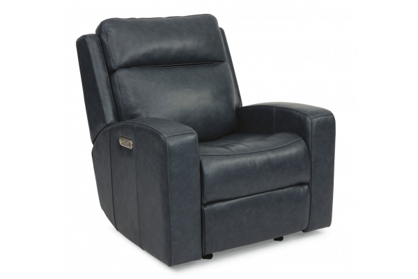 Large image of Flexsteel Cody Leather Power Gliding Recliner With Power Headrest - 1820-54PH-297-40