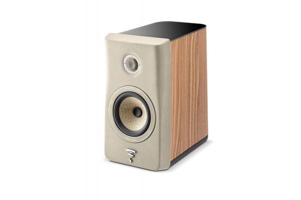 Large image of Focal Kanta N1 Ivory Walnut 2-Way Bookshelf Loudspeaker (Each) - JMLKANTN1-WA/IVORFRO