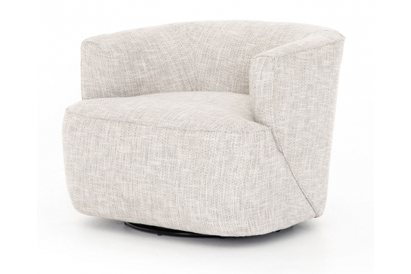 Large image of Four Hands Atelier Collection Brazos Dove Mila Swivel Chair - UATR-060-891P
