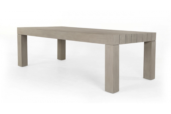 Large image of Four Hands Solano Collection Weathered Grey Sonora Outdoor Dining Table - JSOL-055